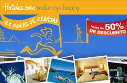 Rebajas de hoteles durante 48h en Hotels.com y con descuentos de hasta el 50%. Chollos para alojarse.