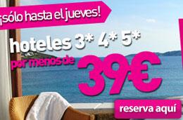 chollos de hoteles y ofertas de alojamiento 3, 4 y 5 estrellas por 39 euros