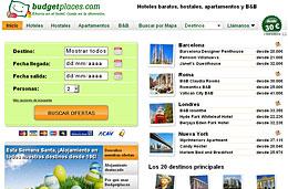 Codigo promocional para BudgetPlaces.com de un 15% de descuento adicional en todas las reservas de alojamiento en sus hoteles, hostales, apartamentos y B&B, válido hasta 5-Abril-2010