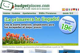 Codigo promocional BudgetPlaces para tener un 30% de descuento adicional en todas las reservas de alojamiento en sus hoteles, hostales, apartamentos y B&B, válido hasta 31-Mayo-2010
