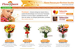 Codigo promocional FloraQueen para tener un 25% de descuento en la compra de ramos de flores y bouquets durante 3 días, válido hasta 2-Noviembre-2009