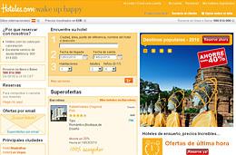 Codigos promocionales y codigos descuento para Hotels.com portal de hoteles online
