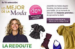 Codigo promocional La Redoute para tener un 30% de descuento en tu artículo preferido, válido hasta 15-Noviembre-2009