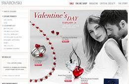 Codigo promocional Swarovski por el dia de San Valentin de 10€ de descuento para compras superiores a 125€