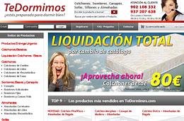Codigo promocional TeDormimos.com para tener un 3% de descuento adicional en esta tienda especializada en descanso, válido hasta 31-Diciembre-2010