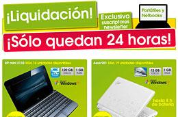 4 codigos promocionales en The Phone House para tener 100€ de descuento en 4 modelos de portátiles y mini netbooks por tiempo muy limitado y hasta fin de existencias