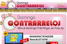 Domingo contrarreloj en Fnac con ofertas y descuentos exclusivos por tiempo limitado sólo durante el día de hoy 9-Mayo-2010