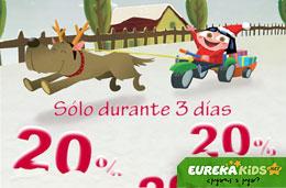Ofertas de juguetes con un 20% de descuento sólo durante 3 días en EurekaKids, válido hasta 20-Noviembre-2009