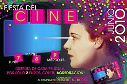 Promocion Fiesta del Cine con descuentos en todas las peliculas de la cartelera