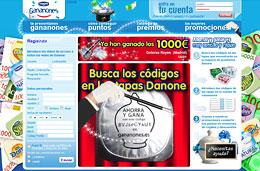 Danone ofrece ganar 1000€ al día con su promoción 'Gananones'  los codigos que encontraréis en las tapas de sus productos