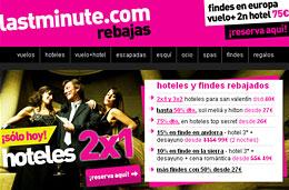Hoteles 2x1 para España y Europa en LastMinute solo durante el dia de hoy jueves 21-Enero-2010 y muchas otras ofertas de hoteles