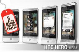 El mejor precio para el HTC Hero Libre, con un 43% de descuento y 222€ de ahorro