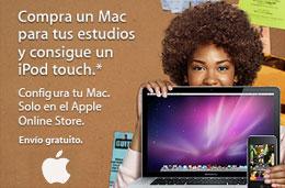 iPod Touch de regalo al comprar cualquier portátil Mac o iMac en la oferta especial para estudiantes y profesores de Apple
