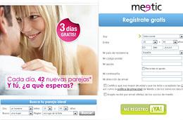 Promoción Meetic: 3 días gratis