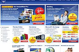 60% de descuento en dominos web .es con 1&1 y sus ofertas especiales durante el mes de Noviembre, válido hasta 30-Noviembre-2009