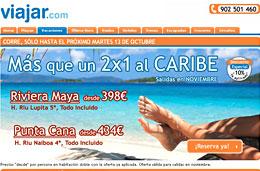 Chollos de viajes 2x1 y vacaciones a Caribe y Riviera Maya Todo Incluido