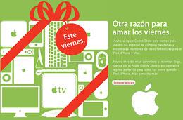 Ofertas Apple en el Black Friday 2009 con descuentos de hasta 129,95€ en ordenadores Mac, iPods, accesorios y software durante todo el viernes 27-Noviembre-2009