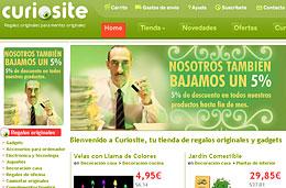 Ofertas en regalos originales gracias al 5% de descuento adicional que ofrece la tienda Curiosité durante este fin de mes, válido hasta 1-Junio-2010