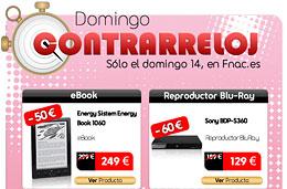 Domingo Contrarreloj en Fnac con ofertas y descuentos especiales sólo durante el día de hoy 14-Marzo-2010