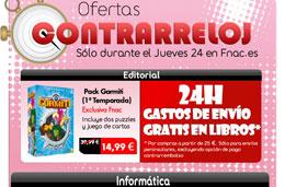 Especial Fnac con Ofertas contrarreloj sólo hoy jueves y 24h de gastos de envío gratis en libros