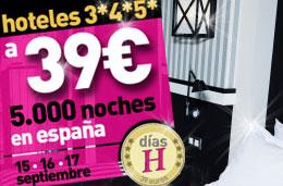Ofertas de hoteles en LastMinute con la promoción de 5.000 noches de hotel en hoteles de 3*, 4* y 5* desde 39€