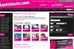 Ofertas de hoteles al 50% en España y Europa en LastMinute, sólo durante el día de hoy 17-Diciembre-2009