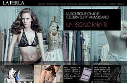 Rebajas en ropa interior de La Perla en su 9º aniversario con descuentos de hasta el 60% y regalos gratis, válido hasta 26-Noviembre-2009
