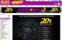 Ahorra o nunca 2 en PC City: Más de 300 productos de electrónica con un 20% de descuento adicional, válido hasta 24-Febrero-2010