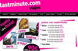 Ofertas de viaje a Europa (vuelo+hotel) desde 89€ para reservas durante esta semana, válido hasta 21-Octubre-2009