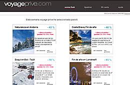 El outlet de viajes Voyage Prive presenta ofertas para viajar con descuentos de hasta el 70%