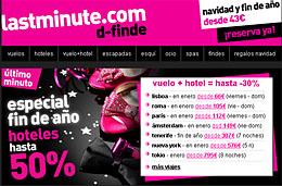 Chollos de viajes vuelo+hotel con un 30% de descuento en Last Minute para viajar en Fin de año y Enero de 2010