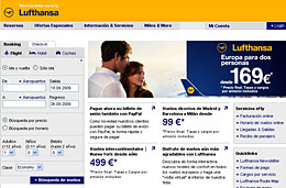 Ofertas de vuelos 2x1 a Europa con Luthansa por tiempo limitado y para volar de Noviembre 2009 a Febrero 2010, válido hasta 20-Septiembre-2009
