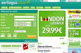 Ofertas de vuelos con Aer Lingus a Londres e Irlanda desde 30 euros por tiempo limitado, válido para reservas hasta 15-Febrero-2010
