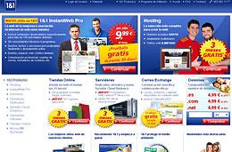 Ofertas de alojamiento web, servidores y tiendas online con 3 meses gratis en el proveedor 1&1, válido hasta 31-Mayo-2010