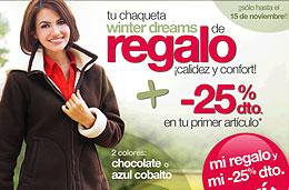 Chaqueta winter dreams de regalo en Venca pagando sólo los gastos de envío y teniendo un 25% de descuento para el primer artículo de vuestra cesta de la compra