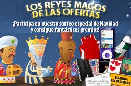¡Ya viene Los Reyes Magos de las Ofertas! Os presentamos nuestro Sorteo especial de Navidad con muchos regalos, válido hasta 6-Enero-2010