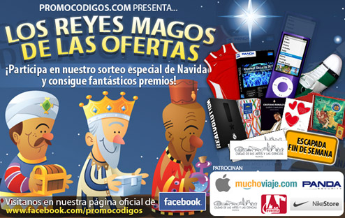Sorteo Los Reyes Magos de las Ofertas en PromoCódigos