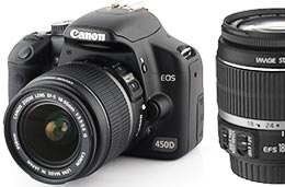 Cámara Canon digital Reflex EOS 450D Objetivo 18-55 codigo promocional descuento oferta