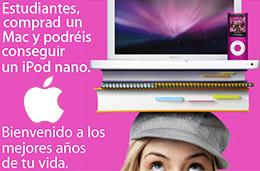 Apple - Últimos días de la promoción Vuelta al Cole: Compra cualquier Mac y consigue un descuento de 125€ para un iPod Nano codigo promocional descuento oferta