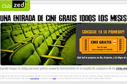 Club Zed Entradas de cine gratis codigo promocional descuento oferta