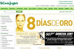 El Corte Inglés Precios especiales y descuentos en los 8 días de oro codigo promocional descuento oferta