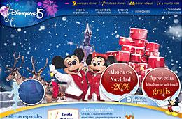Disneyland Paris Navidad 2008 codigo promocional descuento oferta