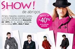 La Redoute Show de los abrigos codigo promocional descuento oferta