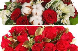 Aquarelle - Esta semana dos ofertas especiales, 12€ de descuento en el bouquet de rosas \'Grand Prix\' y 40 rosas rojas por sólo 25€