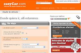 EasyCar - 5% de descuento adicional en todas los alquileres de coche y ofertas de Navidad desde 8€/día
