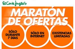 El Corte Ingles - \'Maratón de ofertas\' con precios exclusivos durante 7 días en exclusiva en internet
