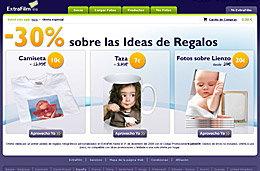 ExtraFilm - Código promocional 30% de descuento para las ideas de regalos (camisetas, tazas, fotos sobre lienzo, ...)