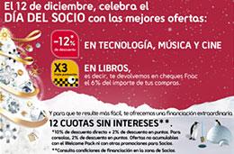 Fnac - 15 aniversario: Mañana día del socio con un 12% de descuento adicional en   tecnología, música y cine junto triple puntuación en puntos al comprar Libros