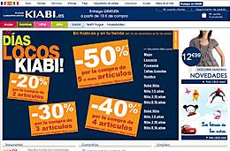 Kiabi - \'Dias locos\' con 4 códigos promocionales  de 20%, 30%, 40% y 50% de descuento en la compra de 2, 3, 4 ó +5 artículos respectivamente