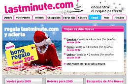 LastMinute - Ofertas especiales de viajes para Fin de Año y/o Reyes